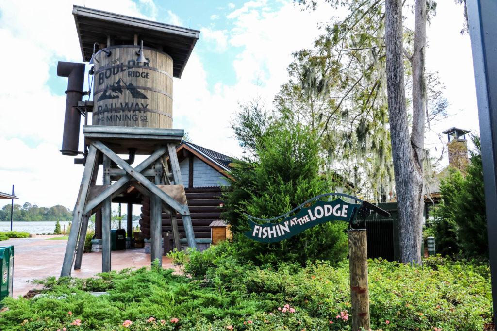 Disney DVC Boulder Ridge resort water tower