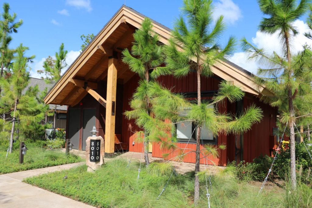 Disney DVC Copper Creek Wilderness Lodge private cabin front view