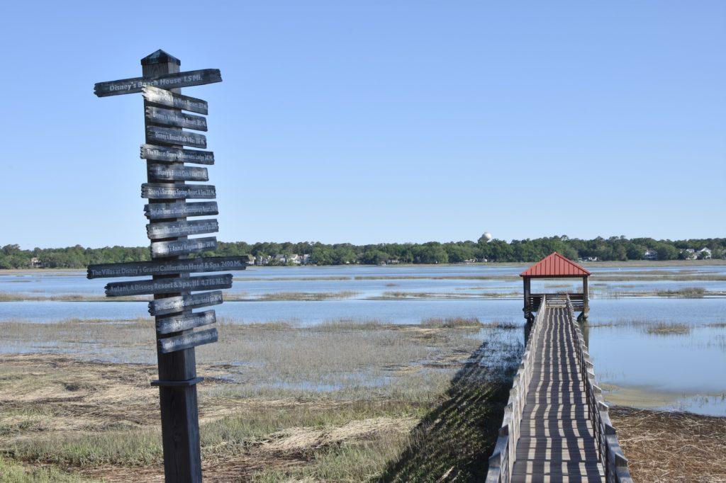 Disney DVC Hilton Head Island Resort dock overlooking marsh
