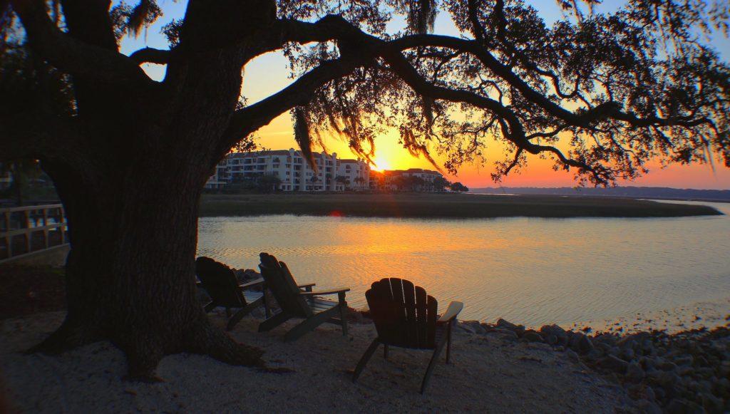 Disney DVC Hilton Head Island Resort sunset view from resort