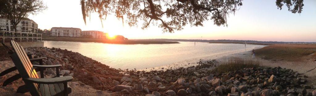 Disney DVC Hilton Head Island Resort panoramic sunset view