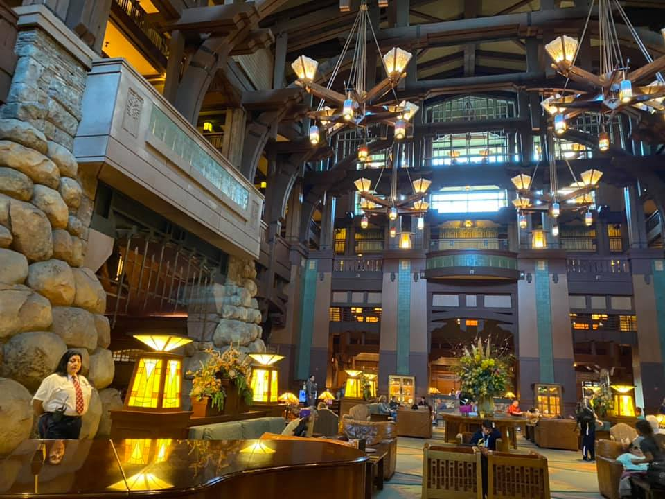 Disney DVC Grand Californian main lobby seating