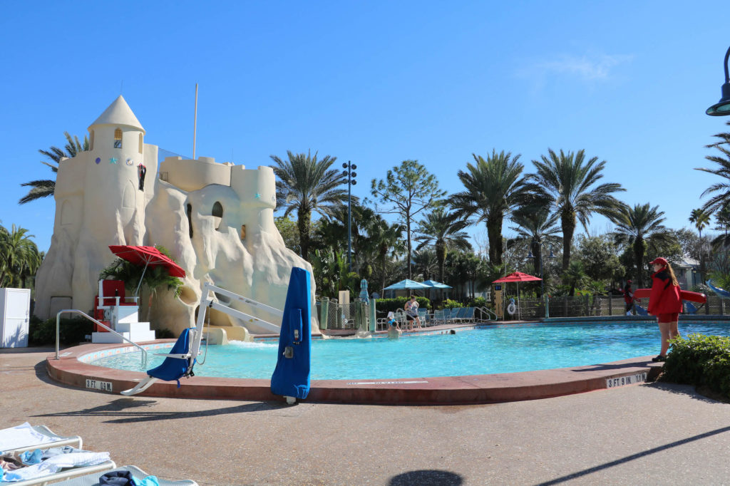 Disney DVC Old Key West pool on a sunny day