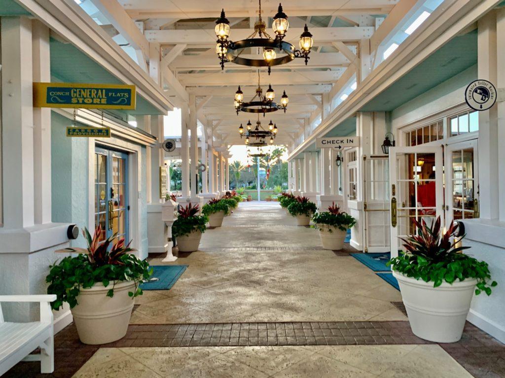 Disney DVC Old Key West main shops hallway