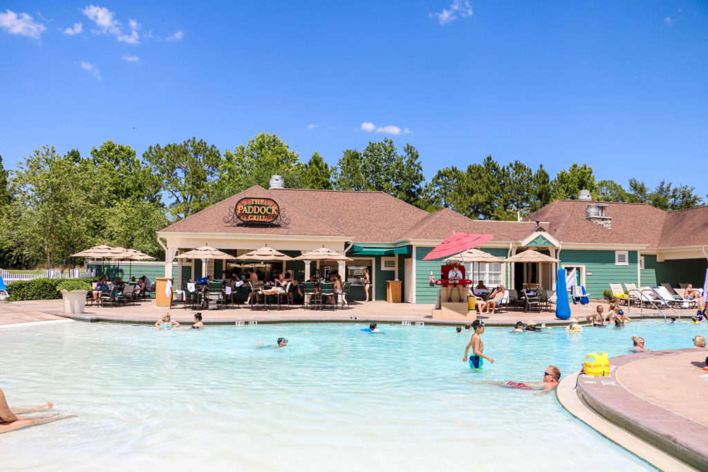 Disney DVC Saratoga Springs zero entry pool and paddock grill
