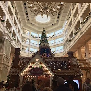 Other side of the Grand Floridian Lobby During the Holidays
