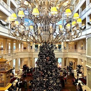 View of the Grand Floridian Lobby During the Holidays